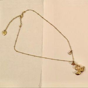 EUC Betsey Johnson Swans' Heart Necklace